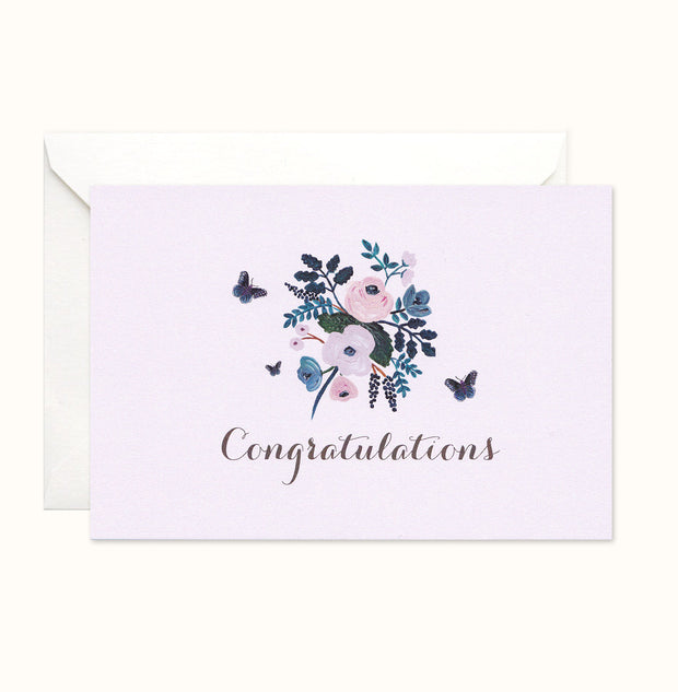 Floral Butterfly Congratulations Card