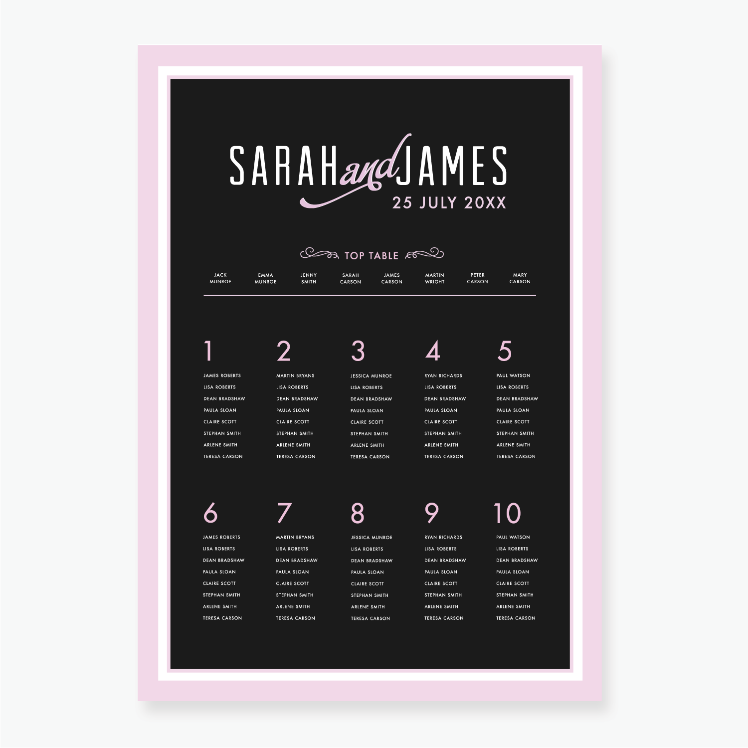 Retro Table Plan