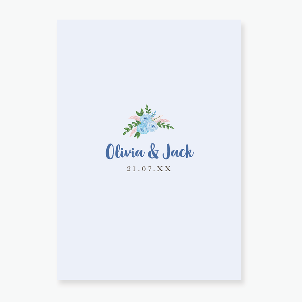 Blue Garden Save the Date Card