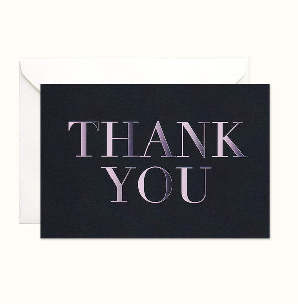 Bold Simplicity Thank You card