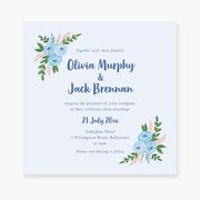 Blue Garden Wedding Invitation