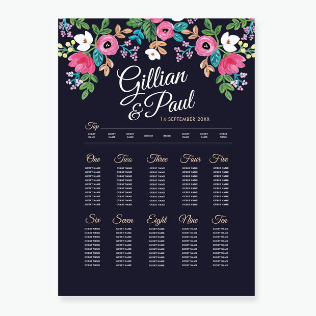 Rosa Table Plan