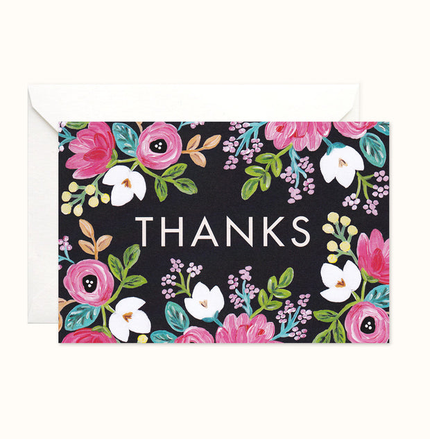 Vibrant Roses Thank You card