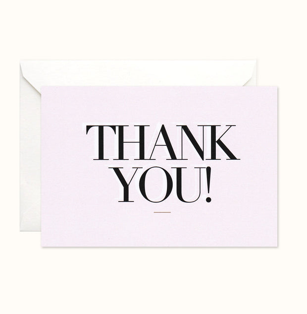 Modern Type Thank You card