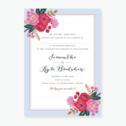 Sweet Bloom Evening Invitation