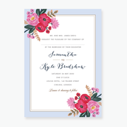 Sweet Bloom Wedding Invitation