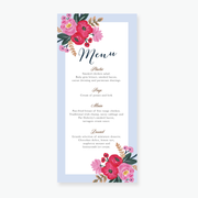 Sweet Bloom Menu