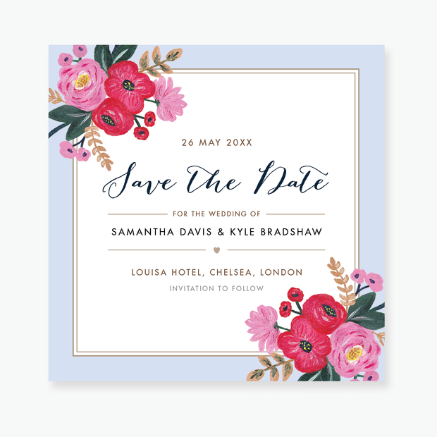 Sweet Bloom Save the Date Card