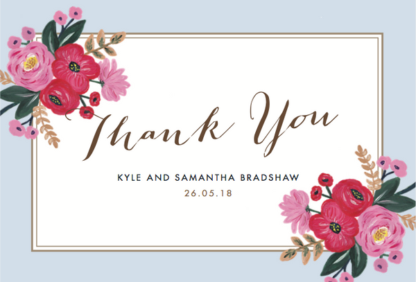 Sweet Bloom Wedding Thank You Card