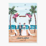 Tropical Dream Wedding Invitation