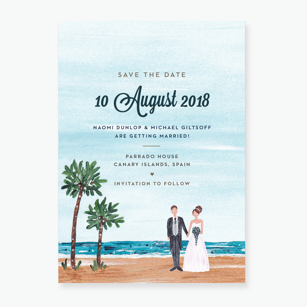 Tropical Dream Save the Date Card