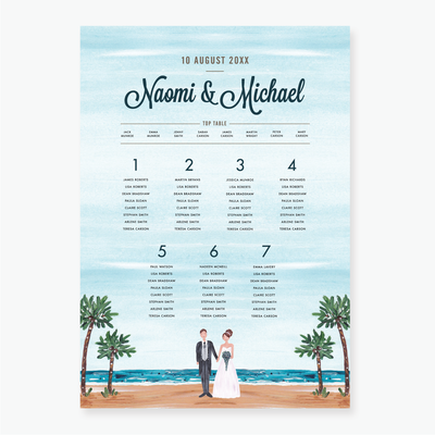 Tropical Dream Table Plan