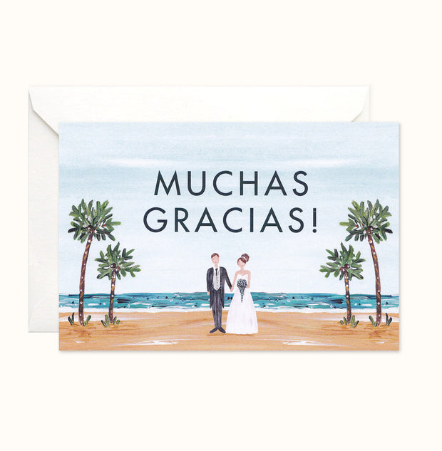 Tropical Wonder Thank You card