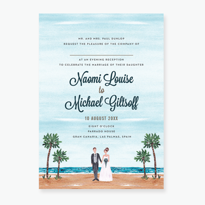 Tropical Dream Evening Invitation