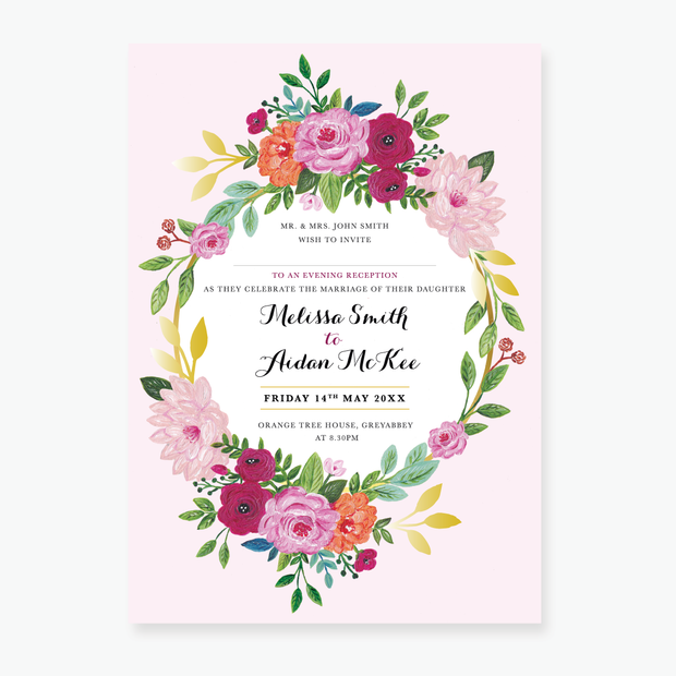 Wild Rose Evening Invitation