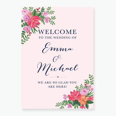Wildflower Welcome Board