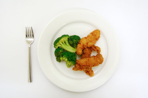 Kids Buttermilk Fried Chicken Tenders & Steamed Broccoli