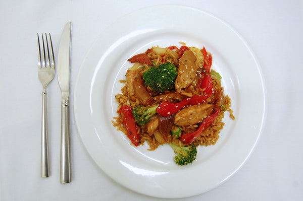 Chicken & Vegetable Stir Fry Over Rice