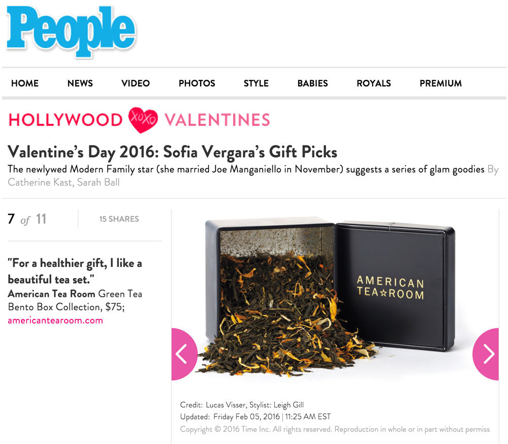 Sophia Vergara Picks American Tea Room for Valentines Day 2016