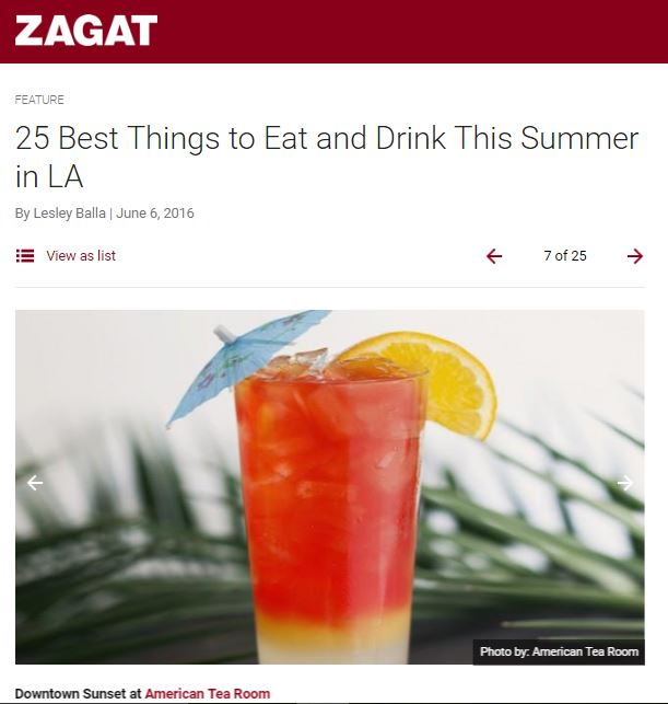 ATR makes list of Zagat's 25 Best Things to Eat and Drink in LA