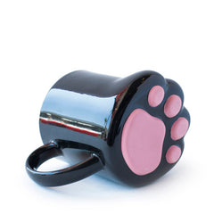 cat paw tea mug on side