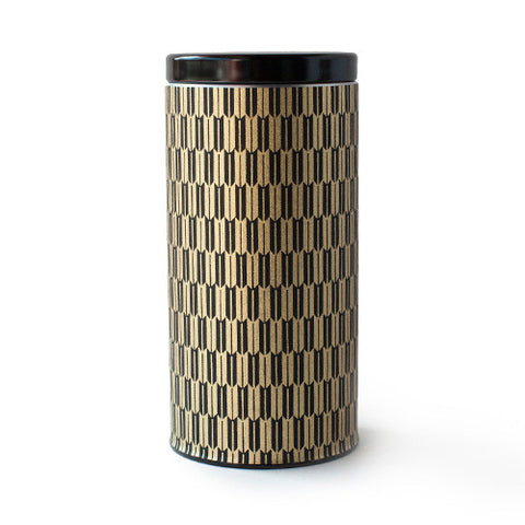 Gold & Black Arrow Canister