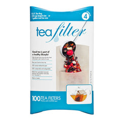 Stuffable paper tea filter bags
