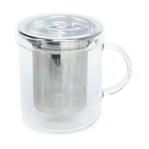 personal glass tea infuser mug