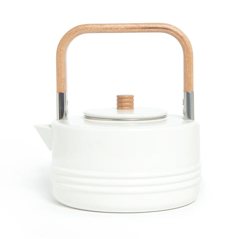 Enameled White Kettle