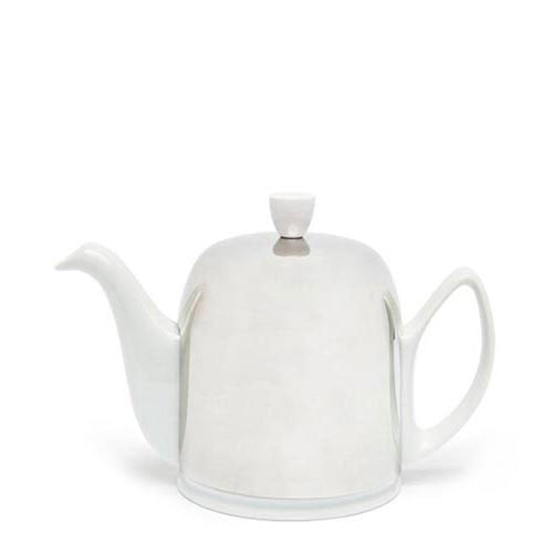 Guy Degrenne Modern Salam Tea Pot 6 Cup White