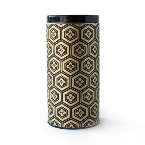 Gold & Black Honeycomb Canister