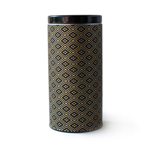Gold & Black Diamond Canister