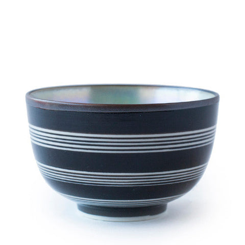 White Striped Black Shima Cup