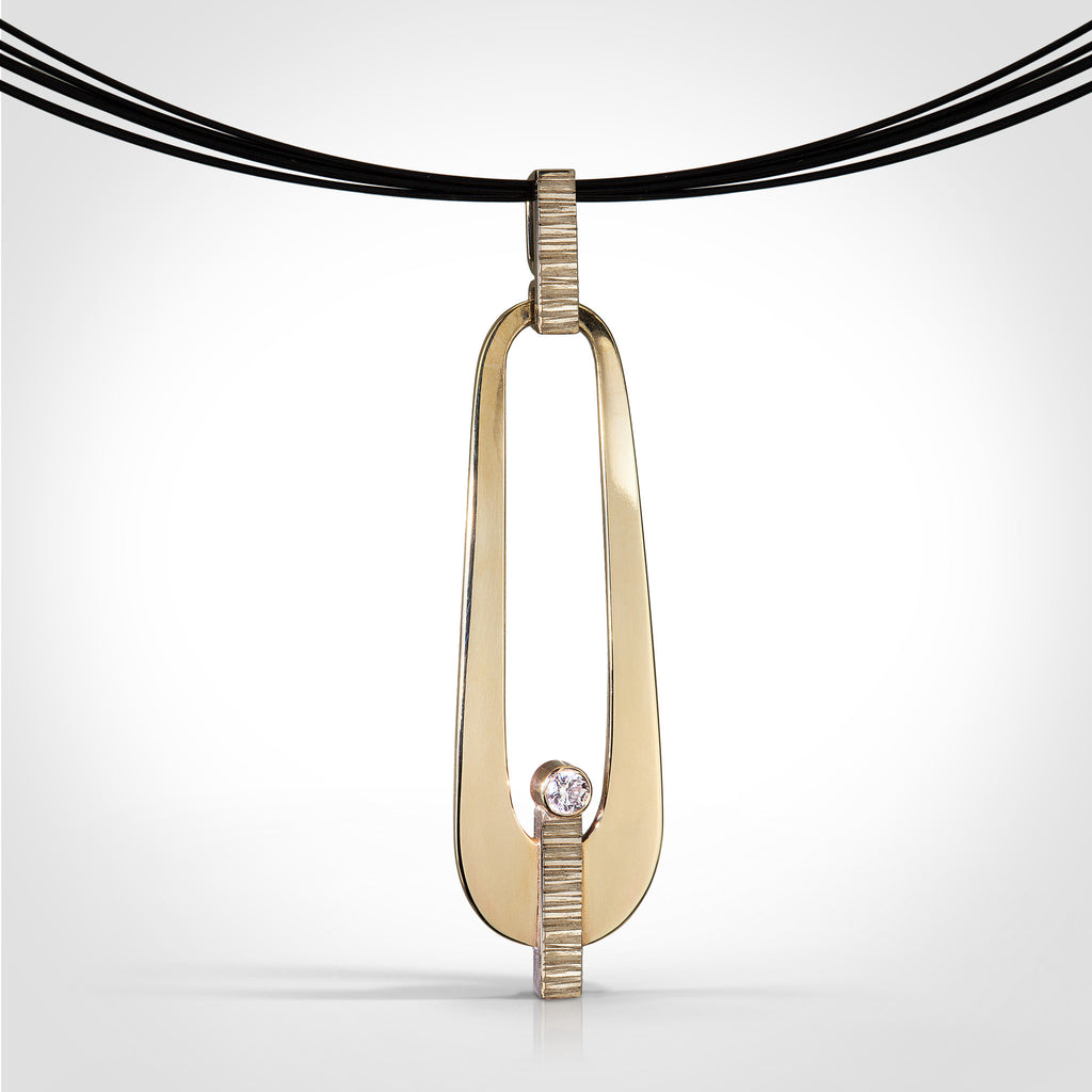 Nancy ryall handmade 14k gold necklace brampton 14k yellow palladium white gold diamond pendant mozeypictures