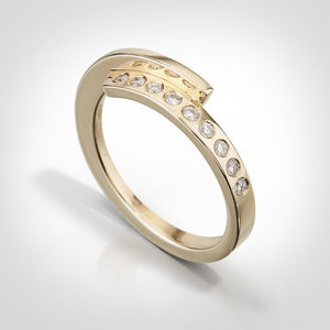 Carlyle-14k yellow gold / diamonds-Custom ring