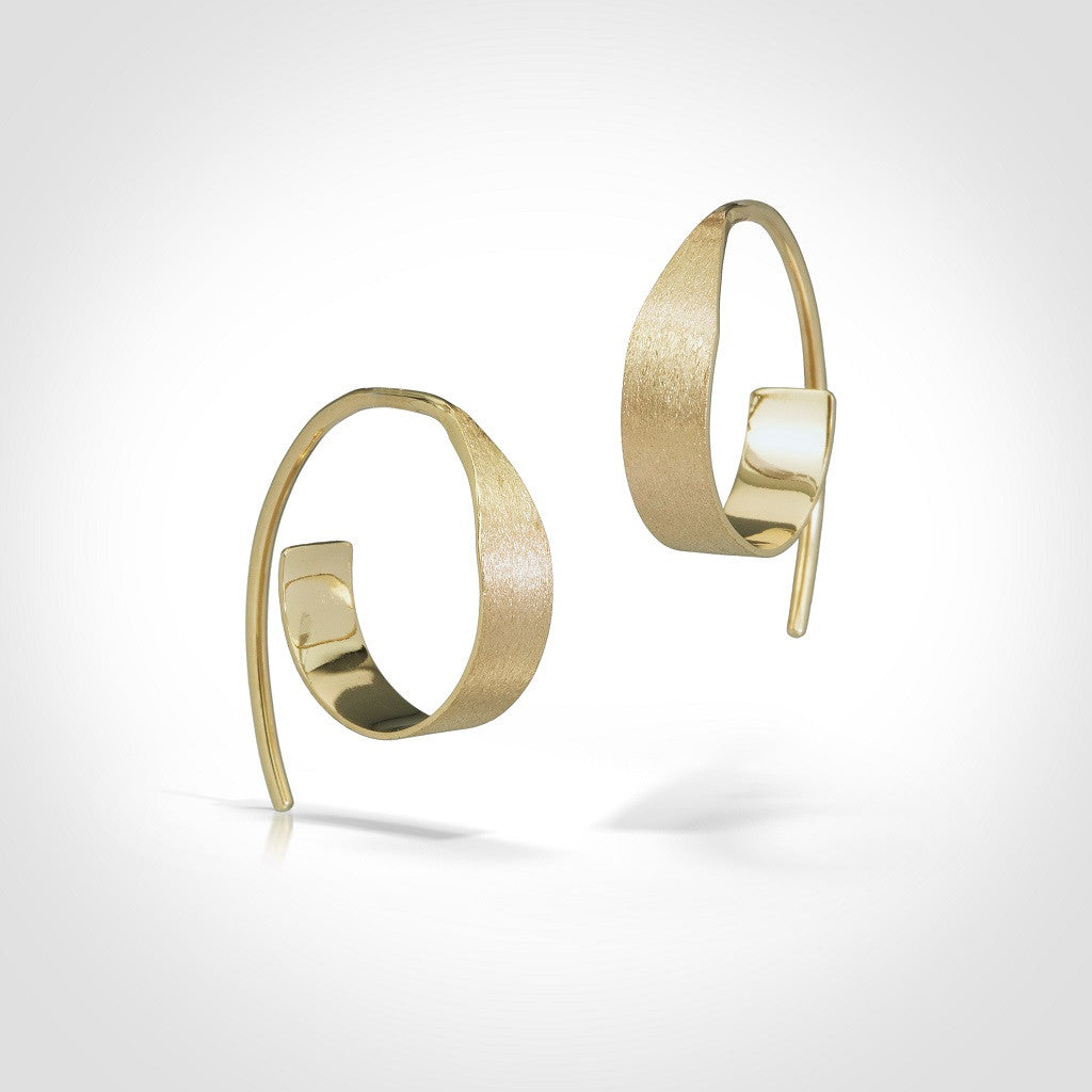 Clement - 14k gold hoop earrings