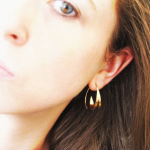 Regent - 14k gold hoop earrings