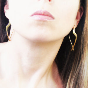 Vyse - 14k yellow gold earrings