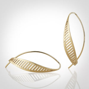 Newhall Medium - 14k gold earrings