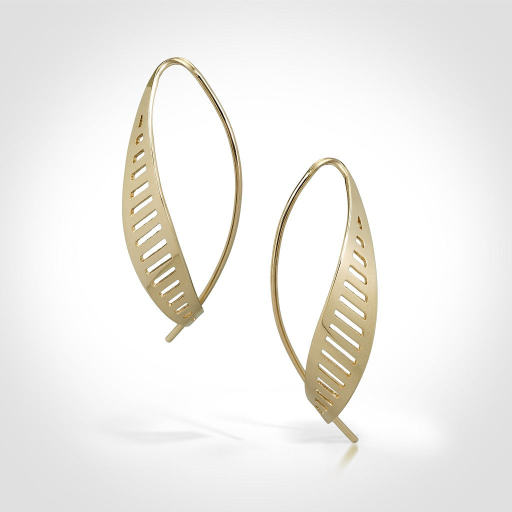 Newhall Small - 14k gold earrings