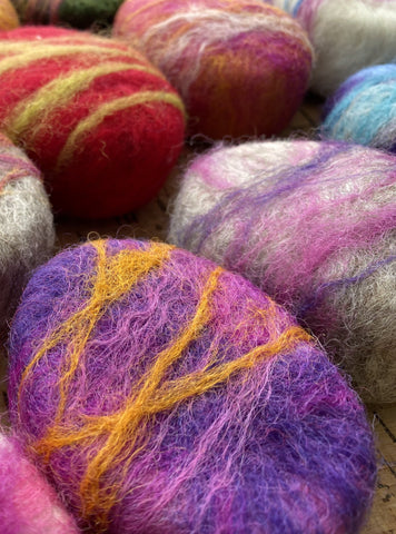 Oval Felted Soap (Vanilla Raspberry)
