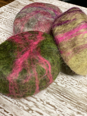 Oval Felted Soap (Apple Sage)