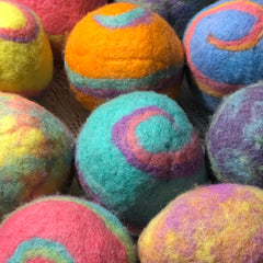 Colorful Wool Dryer Balls (SET OF 3) LASTS 10 YEARS