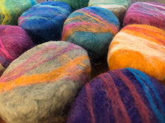 Felted Soap ovals (Homemade cold poured)