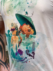 Psychedelic Pin Up Girl (Retro T-Shirt)