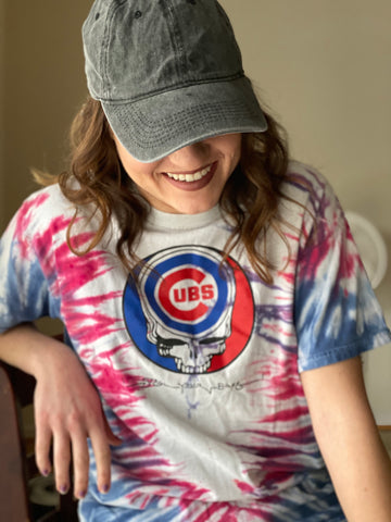 Grateful Dead & Cubs Mash Up (Retro T-Shirt)
