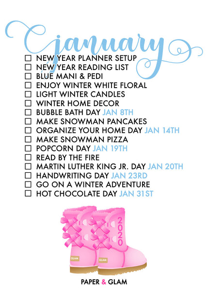 January Seasonal Living List