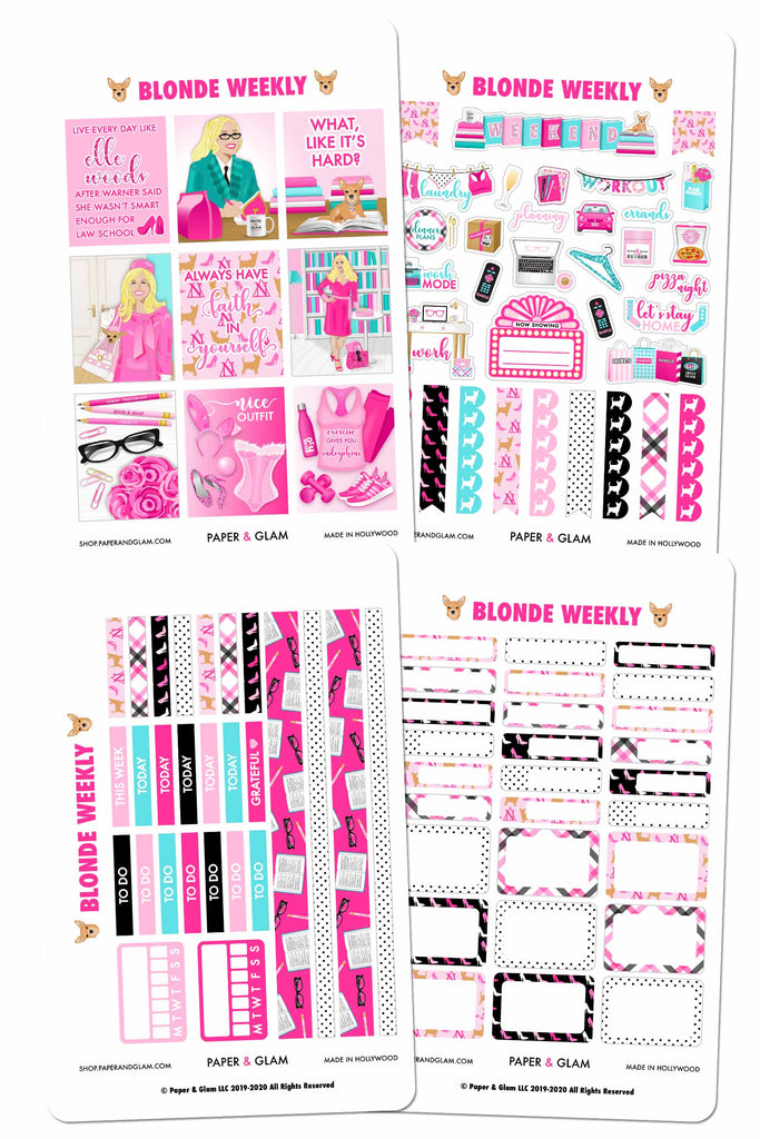 Blonde Glam Weekly Kit Digital Planner Stickers
