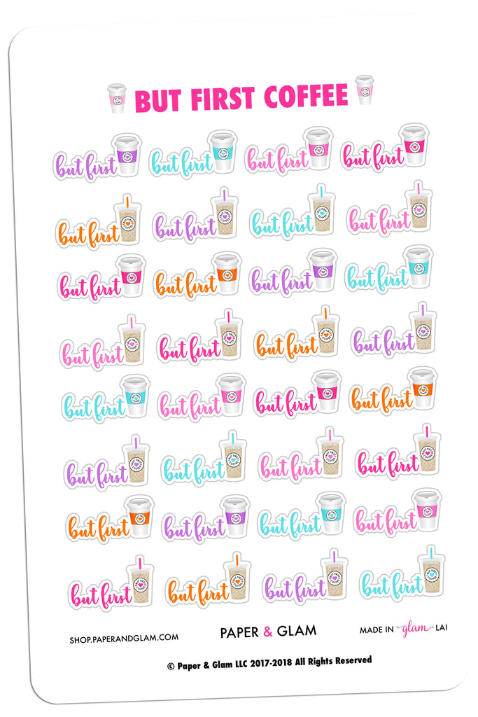 But First Coffee Digital Planner Stickers