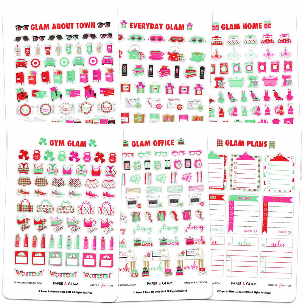 Core Glam December Planner Stickers